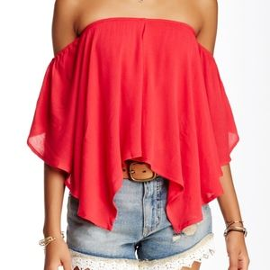 NWT Free People Merpati Off The Shoulder Blouse